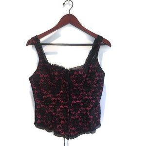 Grenie red and black lace corset size 38